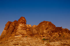 A red rock mountain in Wadi rum Stock Photography