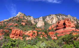 Red rock mountains Stock Photo