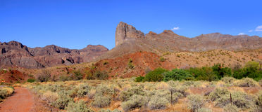 Red rock mountains Royalty Free Stock Images