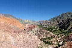Red rock mountains in Jujuy province, Argentina Royalty Free Stock Photos