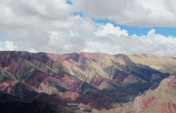 Red rock mountains in Jujuy province, Argentina Royalty Free Stock Images