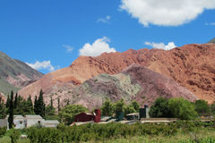 Red rock mountains in Jujuy province, Argentina Stock Image
