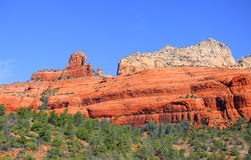 Red rock mountains in Sedona, Arizona Royalty Free Stock Images