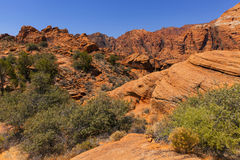 Red Rock Mountains in Southern Utah, USA. Stock Photography