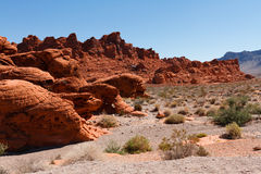 Red Rock Mountains in Valley of Fire State Park Royalty Free Stock Image