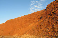 Red rock and mud conglomerate Royalty Free Stock Images