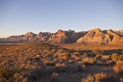 Red Rock National Conservation Area - Dawn. First rays of warm sunrise light in Nevada's Red Rock National Conservation Area Royalty Free Stock Photos