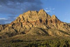 Red Rock National Conservation Area. Dawn light on Mt Wilson in Red Rock National Conservation Area near Las Vegas, Nevada Stock Photos