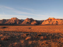 Red Rock Nevada. Warm sunrise light at Nevada's Red Rock Recreation Area Royalty Free Stock Image