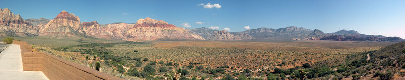 Red rock nevada. Panorama shot of the Red Rock conservation area near Las Vegas Nevada Royalty Free Stock Photo