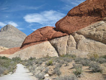 Red rock pathway Stock Photography
