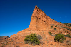 Red rock peak in caprock canyon Stock Photos