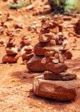 Red Rock Piles Marking Vortex in Sedona Stock Photo