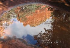 Red rock reflections Royalty Free Stock Photo