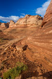 Red Rock Sandstone Formations near Page AZ Stock Photography