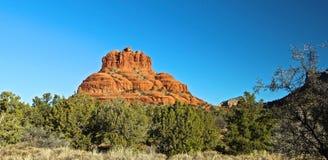 Red Rock Sedona Arizona. Famous Red Rock bordering the Town Center of Sedona Arizona royalty free stock photography