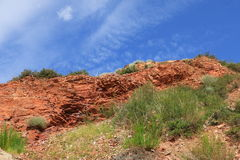 Red rock and sky Royalty Free Stock Images