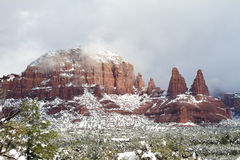 Red Rock Snow Royalty Free Stock Image