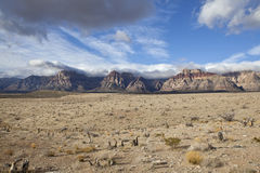 Red Rock Spring Storms. Spring storms roll over Red Rock National Conservation Area in Southern Nevada Stock Photos