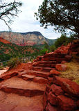 Red Rock Stairs Stock Images