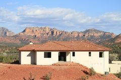 USA, AZ/Red Rock State Park:A House With A View Royalty Free Stock Photos