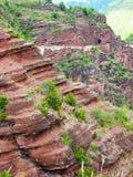 Red rock stone. In switzerland Stock Image