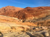 Red rock structure in Valley of Fire, Nevada, USA Stock Images