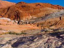 Red rock structure in Valley of Fire, Nevada, USA Stock Photos