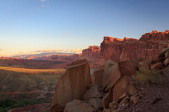 Red rock sunrise in Capitol Reef. Stock Image