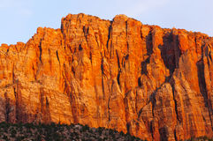 Red Rock at Sunset Stock Photography
