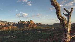 Sedona sunset timelapse, Red rock country stock video