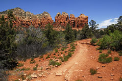 Red Rock Trail Stock Photo