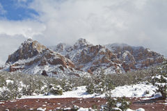 Red Rock Winter Stock Image