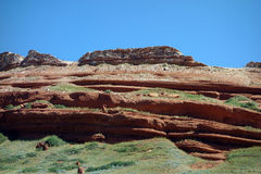 Red rock in wyoming Stock Photo