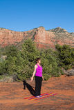 Red Rock Yoga Stock Photo