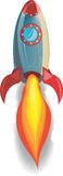 Red Rocket Blastoff. Rocket ship blasting off royalty free illustration