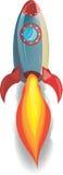 Red Rocket Blastoff. Rocket ship blasting off Stock Photography