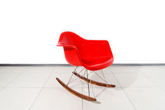 Red Rocking-chair Stock Image