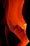 Red Rocks. The red rock lit by sunlight in Antelope Canyon Royalty Free Stock Image