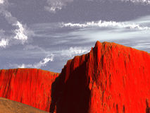 Red rocks. And blue sky royalty free illustration