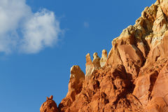 Red Rocks in Abiquiu Royalty Free Stock Photography
