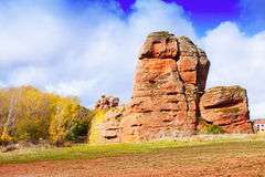 Red rocks at Alto Tajo in autumn Stock Photos