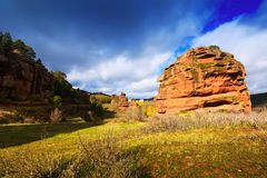 Red rocks at Alto Tajo Stock Photo
