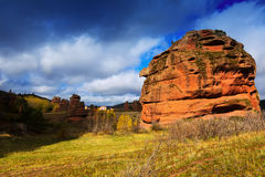 Red rocks at Alto Tajo in autumn Stock Images