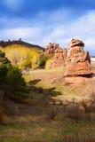 Red rocks in Alto Tajo Stock Photography