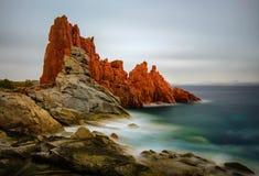 Red Rocks of Arbatax. Red Rocks in Arbatax on Sardegna Island, Italy Stock Photos