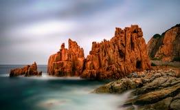 Rocco Rosso. Red Rocks in Arbatax on Sardegna Island, Italy Royalty Free Stock Photo