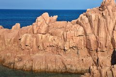 Red Rocks Arbatax, Sardinia, Italy. The red Rocks Arbatax, Sardinia, Italy Royalty Free Stock Images