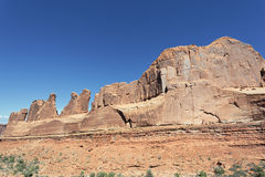 Red rocks in Arches. View of red rocks in Arches National park, Utah Royalty Free Stock Photos
