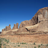 Red rocks in Arches National park Royalty Free Stock Photography